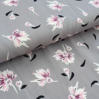 Grey Drapery Micro Satin Fabric