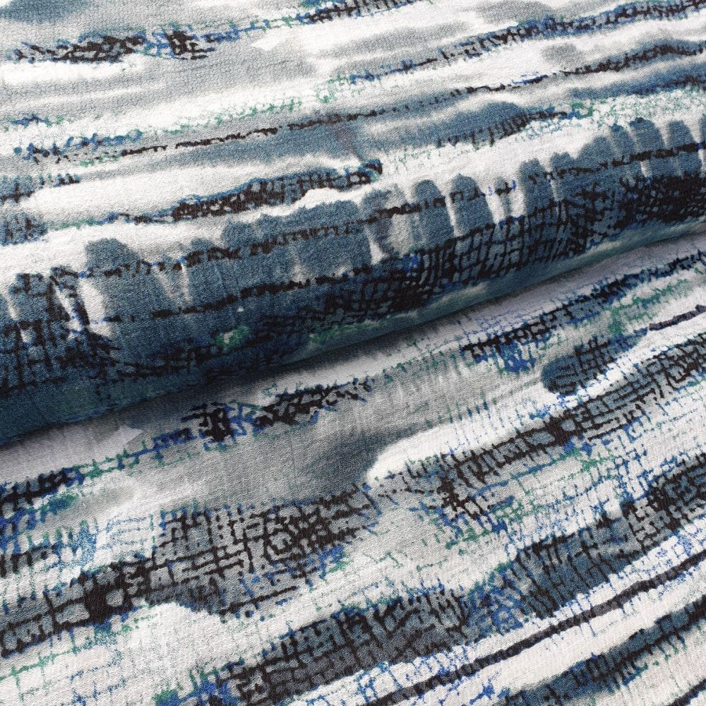 Waves Viscose Fabric