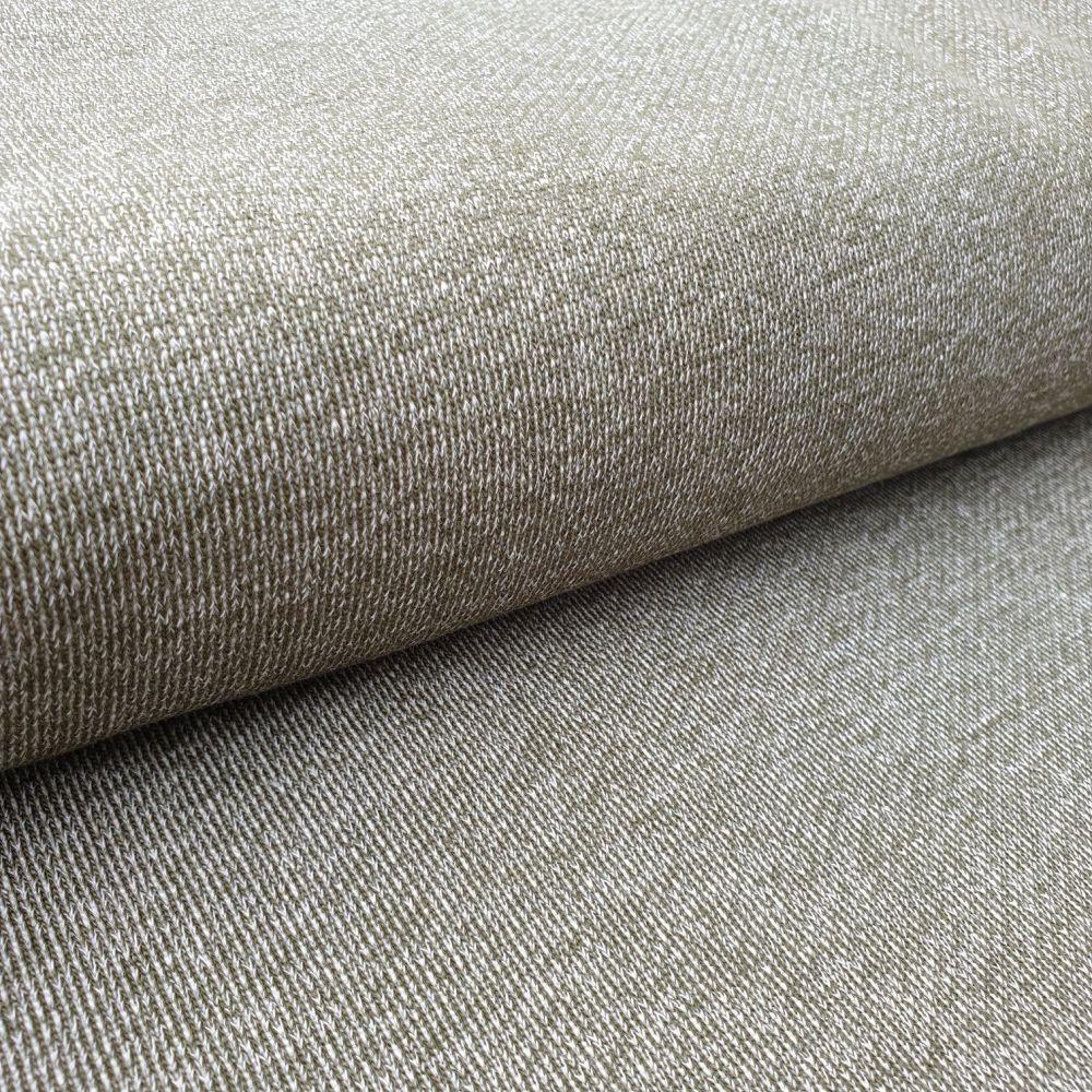 Khaki Green Knit French Terry Fabric