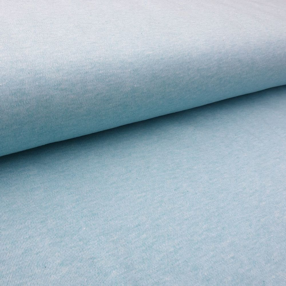 Organic Cotton Interlock Light Blue Fabric