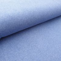 Organic Cotton Interlock Denim Blue Fabric