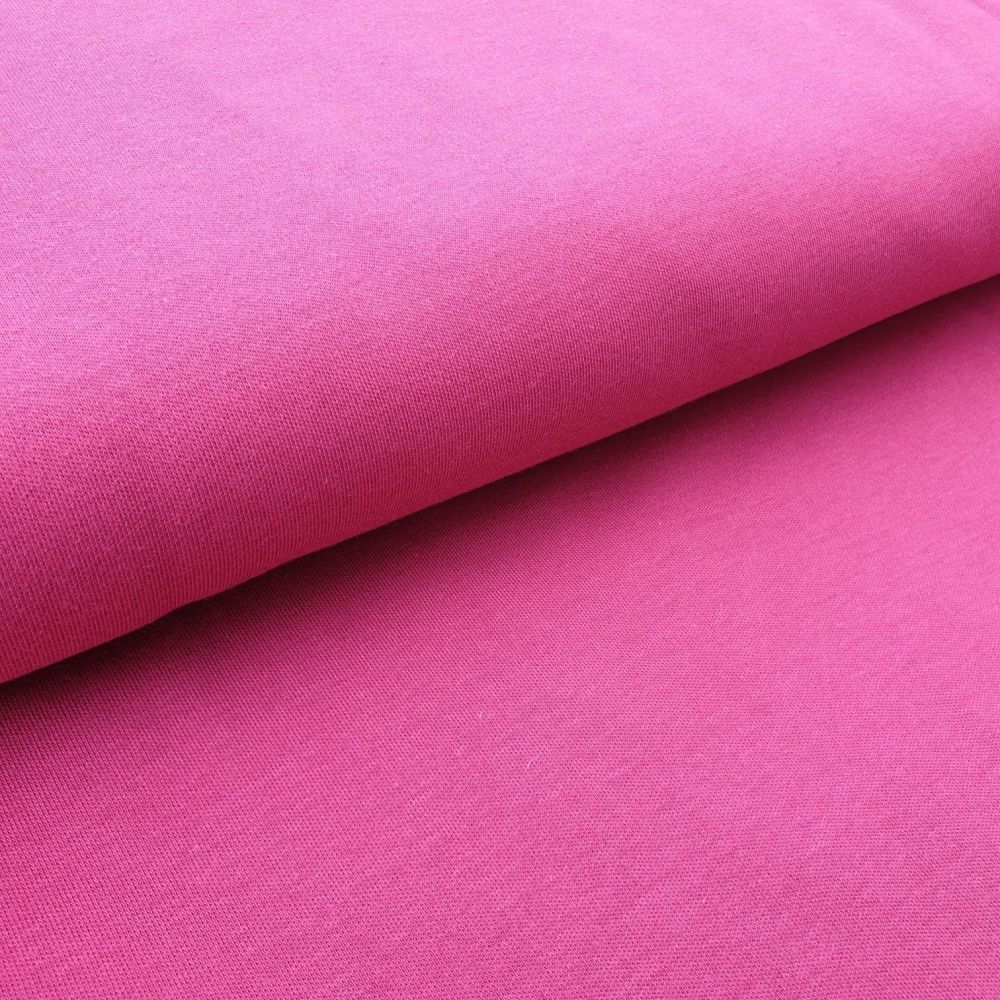 Organic Cotton Interlock Pink Fabric