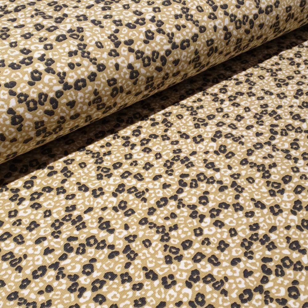 Leopard Print  Organic Cotton Jersey Fabric