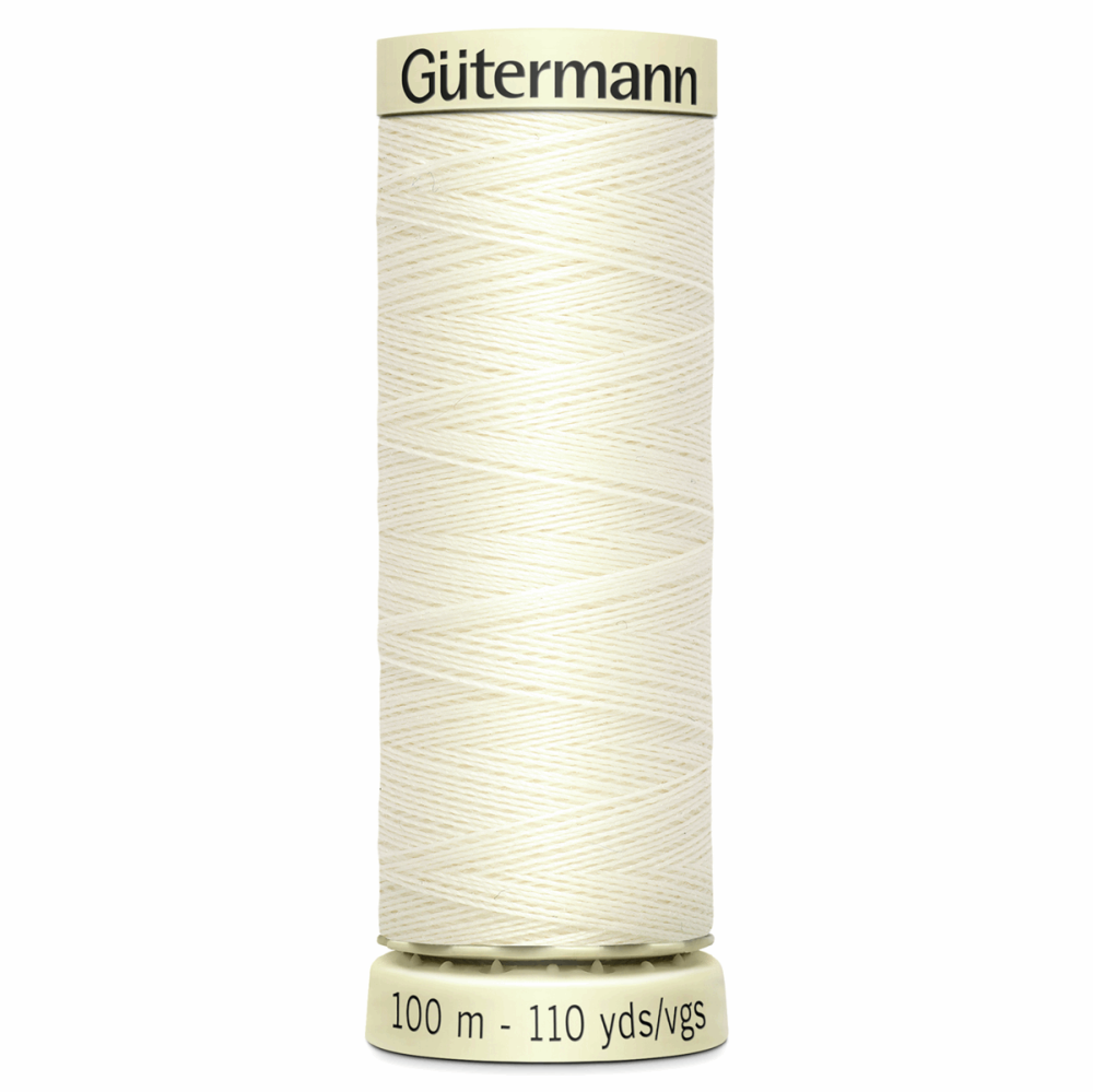 Sew All Polyester Sewing Thread Colour 1 Ivory