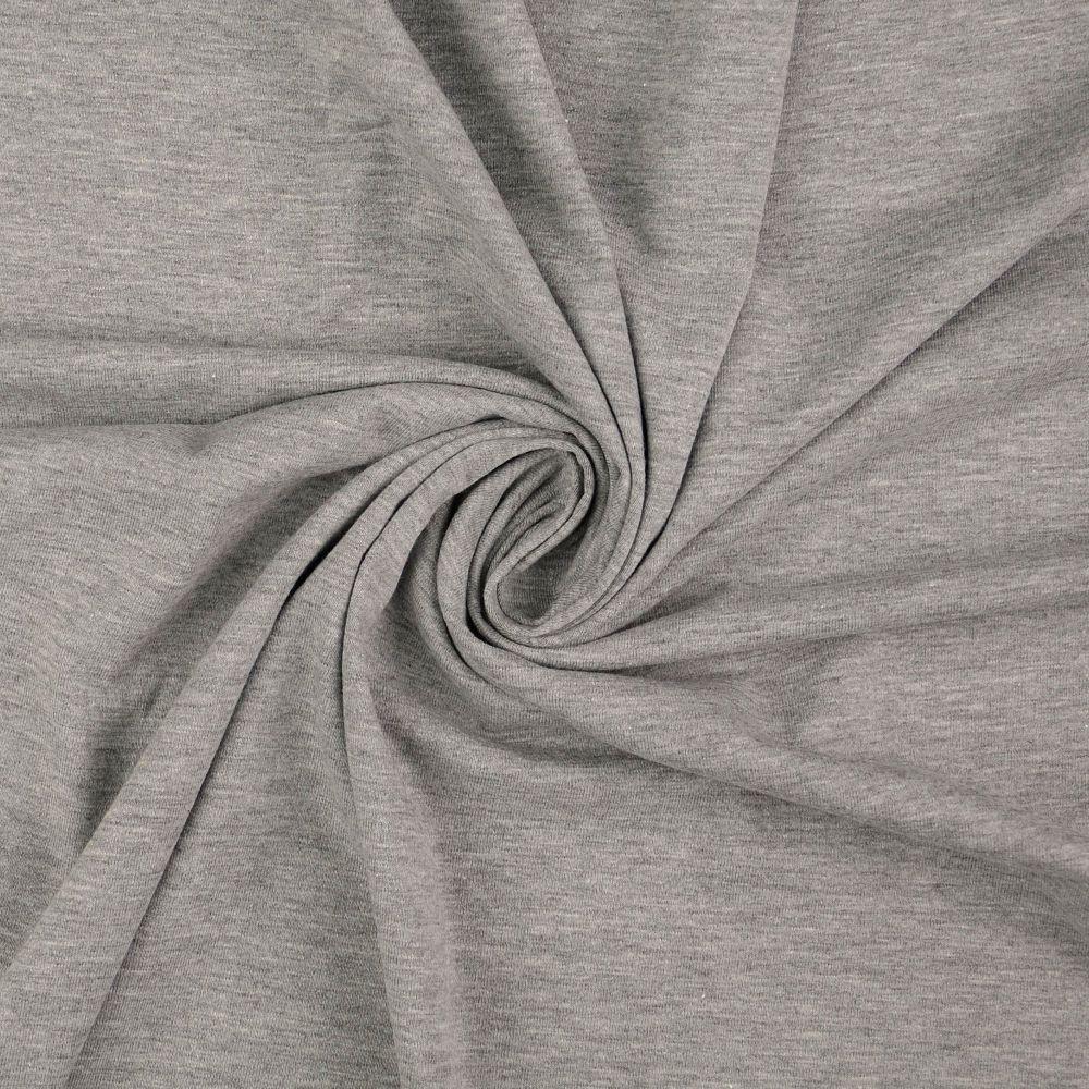Cotton Jersey Fabric Light Grey
