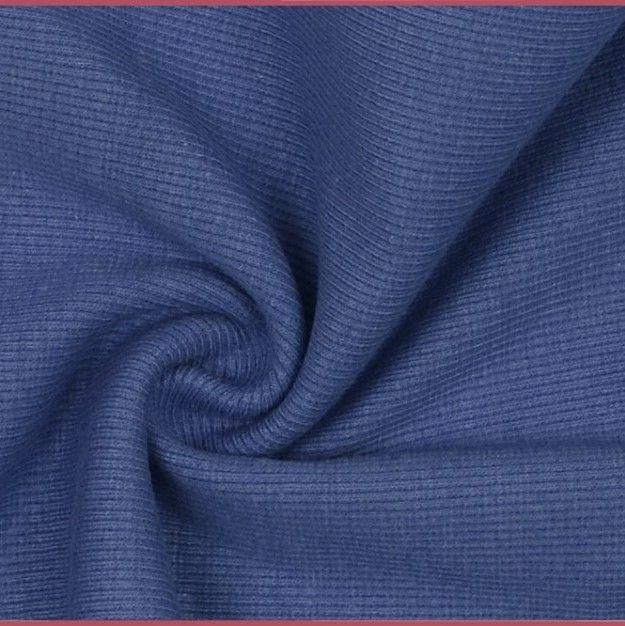 Tubular Ribbing Fabric Blue