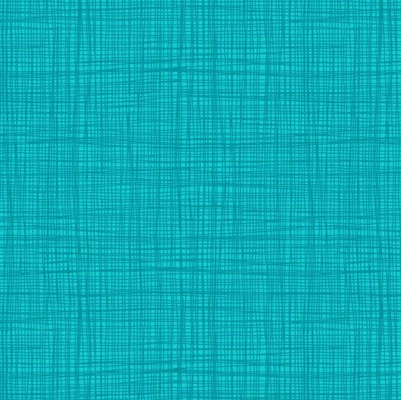 Makower Linea Texture Peacock Cotton fabric