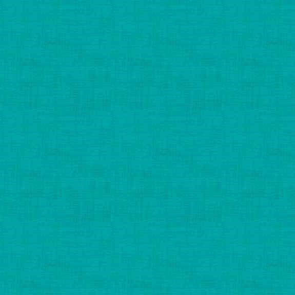Makower Linen Turquoise Cotton Fabric
