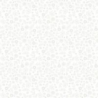 Makower Essential Doodle Ditzy White On White Cotton Fabric