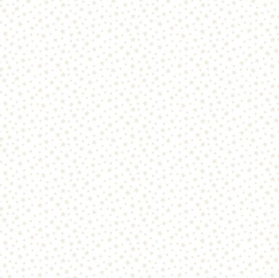 Makower Essentials Star White On White Cotton Fabric