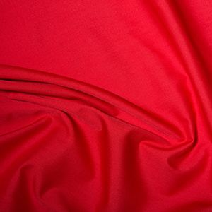 polycotton Fabric Red