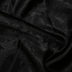 Paisley Jacquard Dress Lining Fabric Black