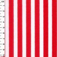 Cotton Poplin Stripes Red