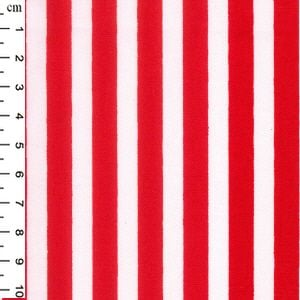 Cotton Poplin Stripes Red