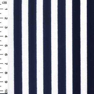Cotton Poplin Stripes Navy