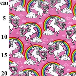 Cotton Poplin Pink Unicorns