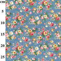 Cotton Poplin Copen Flowers