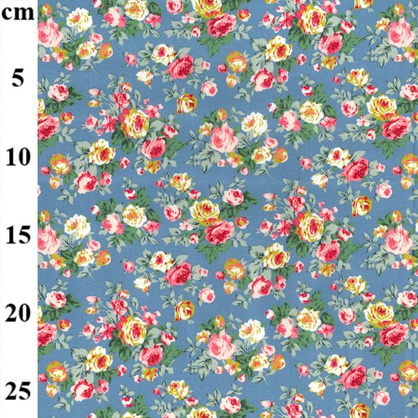Cotton Poplin Copen Flowers