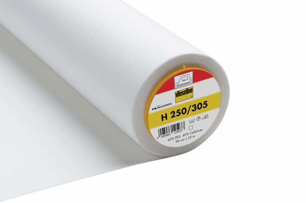 305 White Firm/Heavy Iron-on Interfacing Vilene Vlieseline 90cm wide