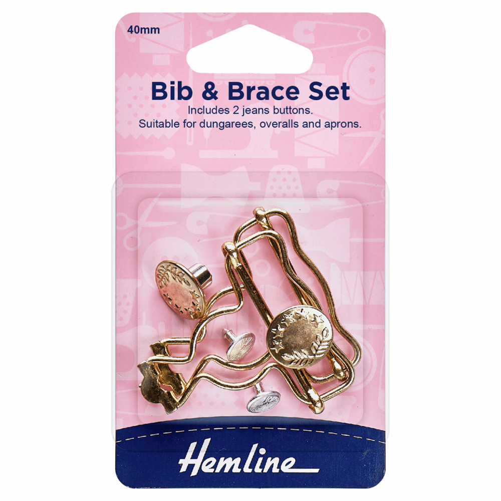 Bib & Brace Set Gold 40mm