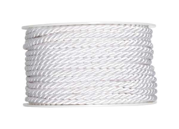 4mm Twisted Rayon Cord White