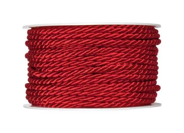 4mm Twisted Rayon Cord Red