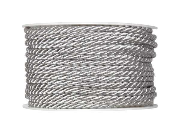 4mm Twisted Rayon Cord Silver