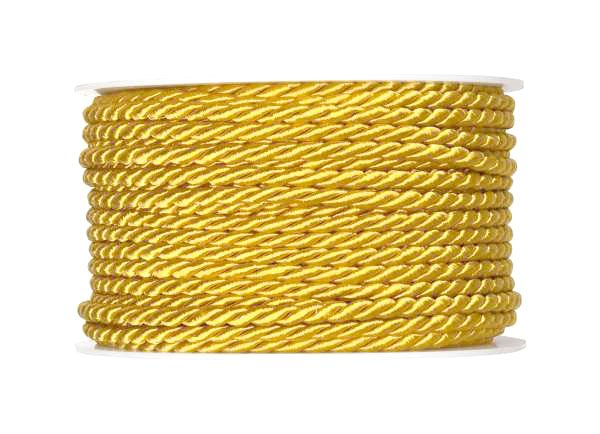 4mm Twisted Rayon Cord Gold