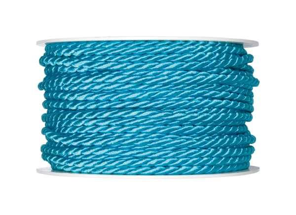 4mm Twisted Rayon Cord Turquoise