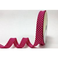 Bias Binding Fuchsia Polka Dot 18mm