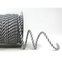Drawstring Cord 4mm Cotton Blend Grey & White