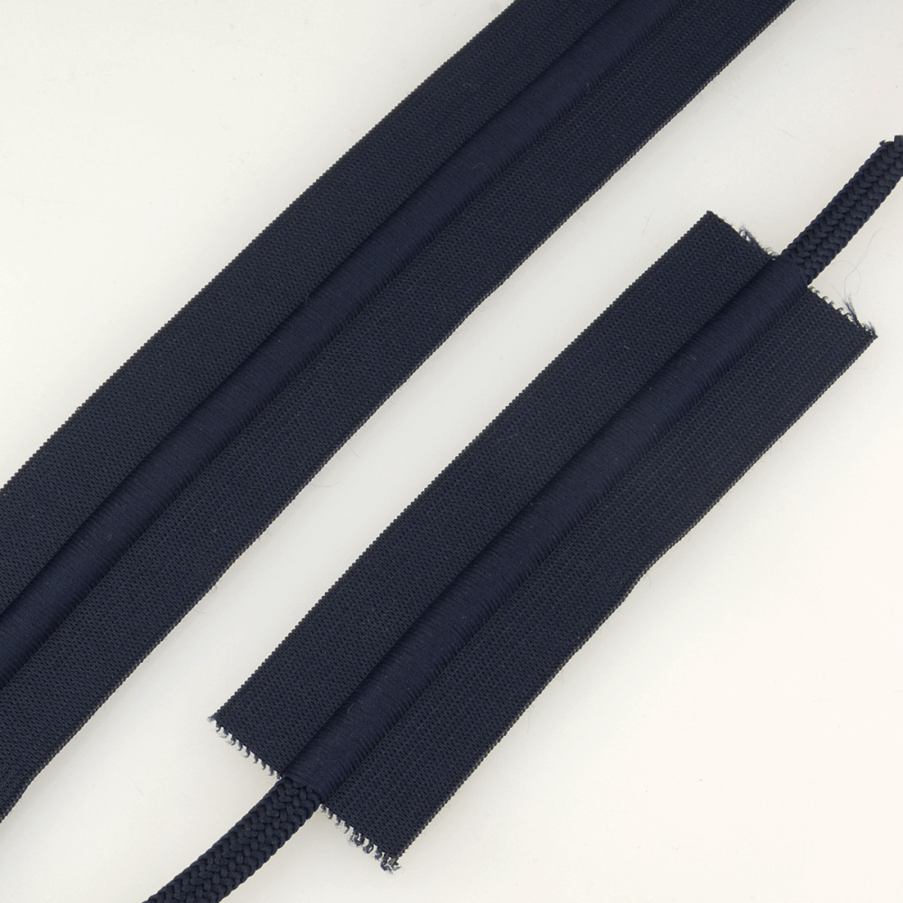 Elastic With Cord 38mm Navy