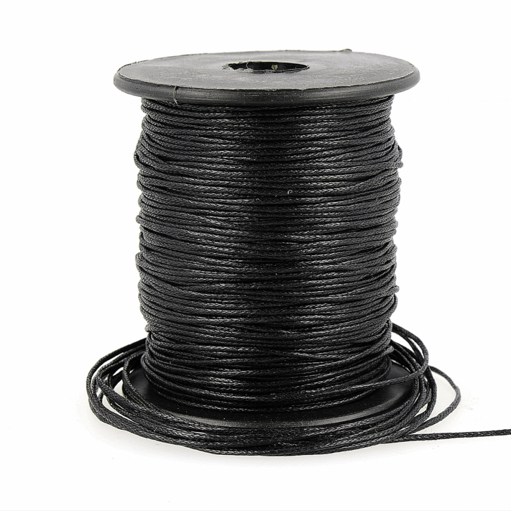 Faux Leather Cord 1mm Black