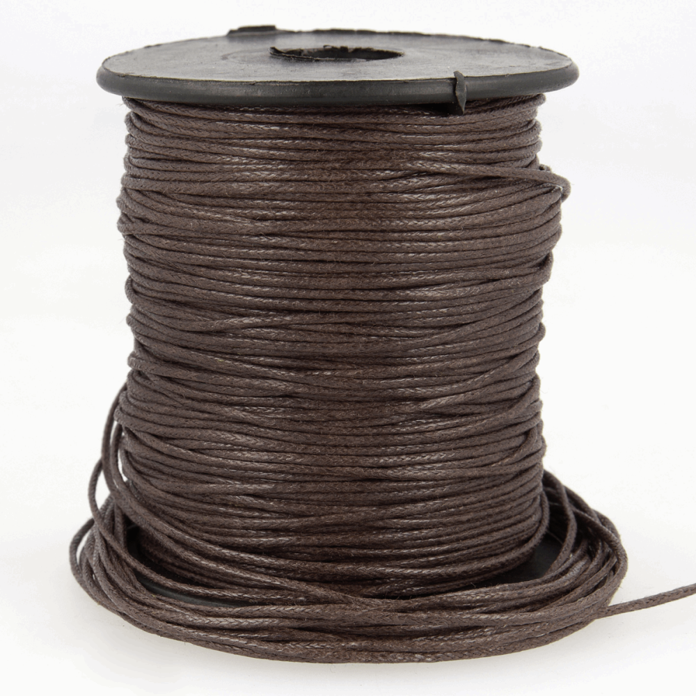 Faux Leather Cord 1mm Chocolate Brown