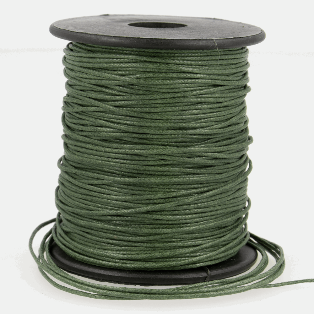 Faux Leather Cord 1mm Khaki
