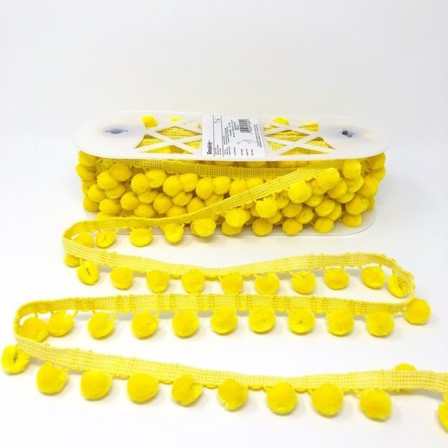 Pom-Poms Trim 28mm Yellow