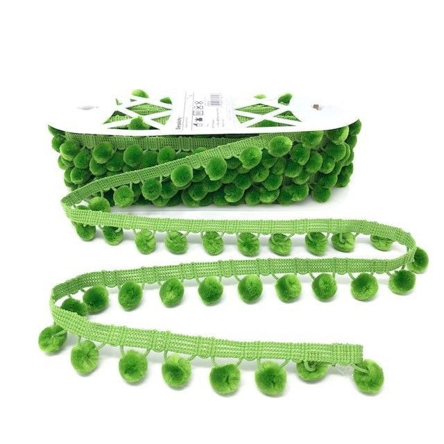 Pom-Poms Trim 28mm Grass Green