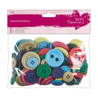 Do Crafts Assorted Buttons 250g Bag Bright Colours