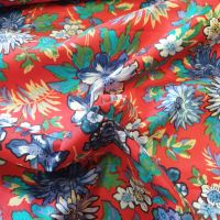 Cotton Lawn Red Florals Fabric