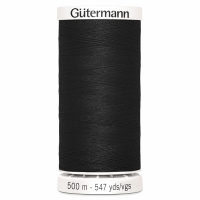 Sew All Polyester Sewing Thread Colour 000 Black 500 metres