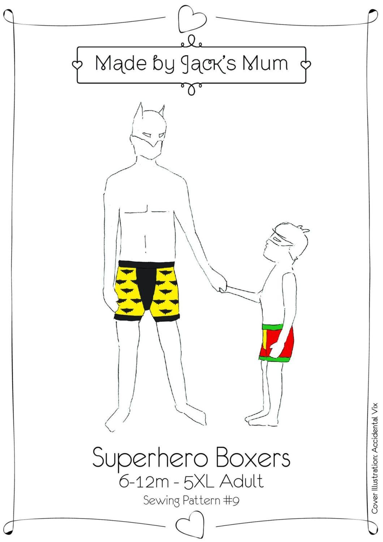 Made By Jacks Mum Superhero Boxers 6-12m to 5XL