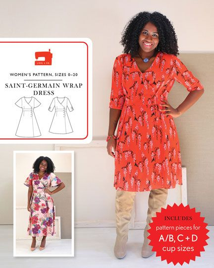 Liesl & Co Saint Germain Wrap Dress Pattern