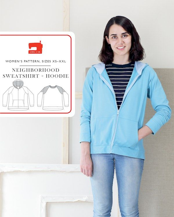 Liesl & Co Neighborhood Sweatshirt & Hoodie Pattern