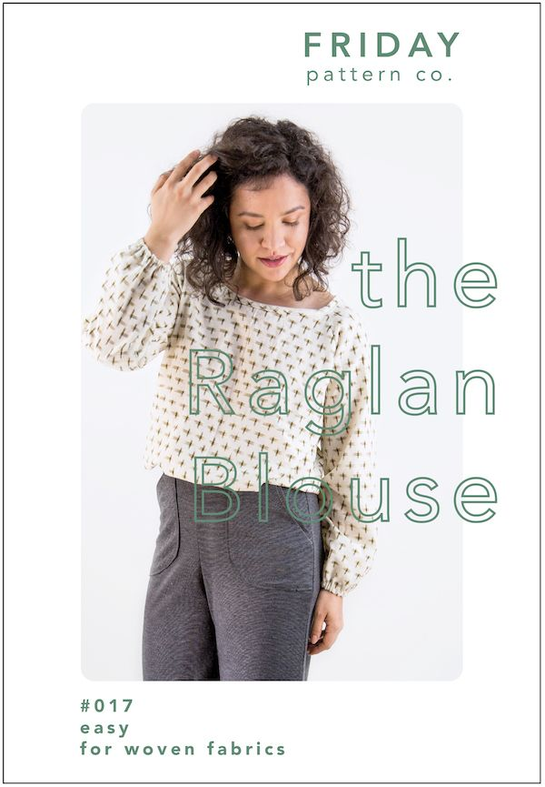 The Friday Company Raglan Blouse Sewing Pattern