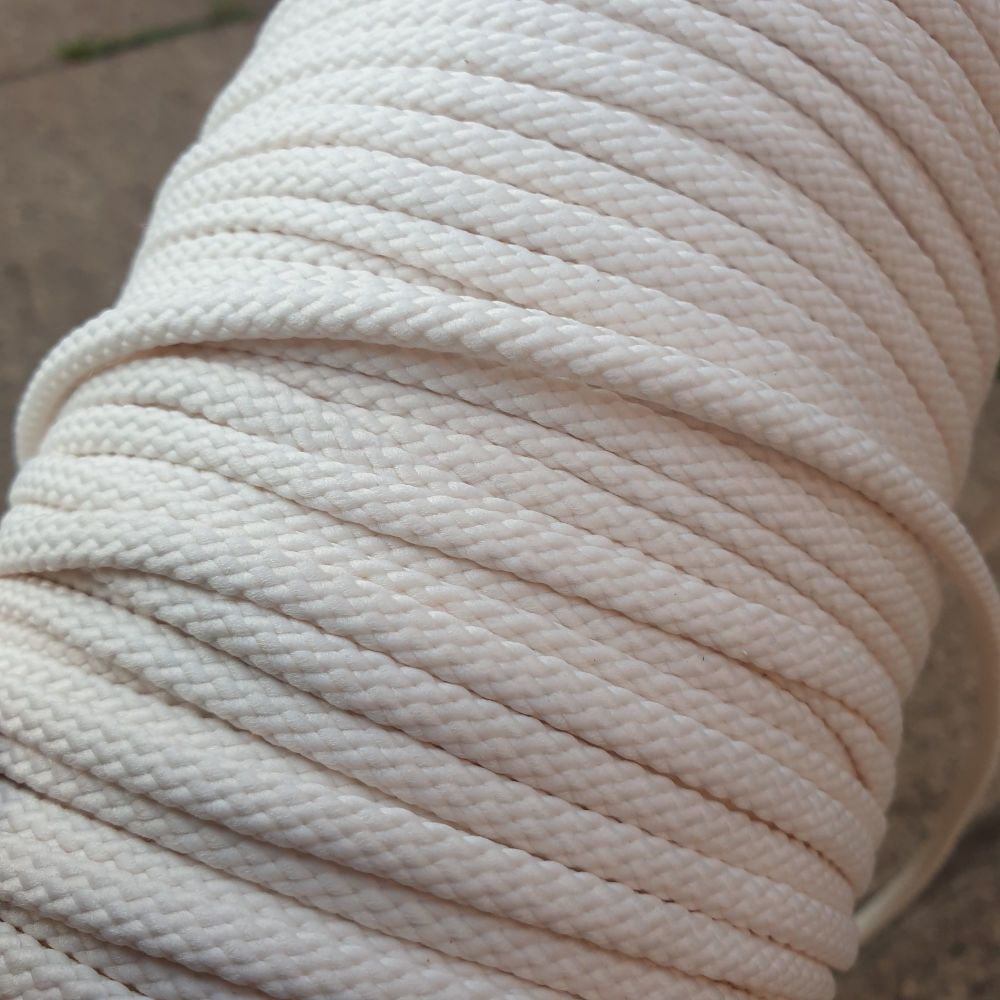 Drawstring Anorak Cord Cream 5mm