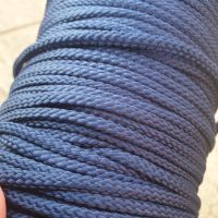 Drawstring Anorak Cord Navy 5mm