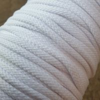 Drawstring Anorak Cord White 5mm