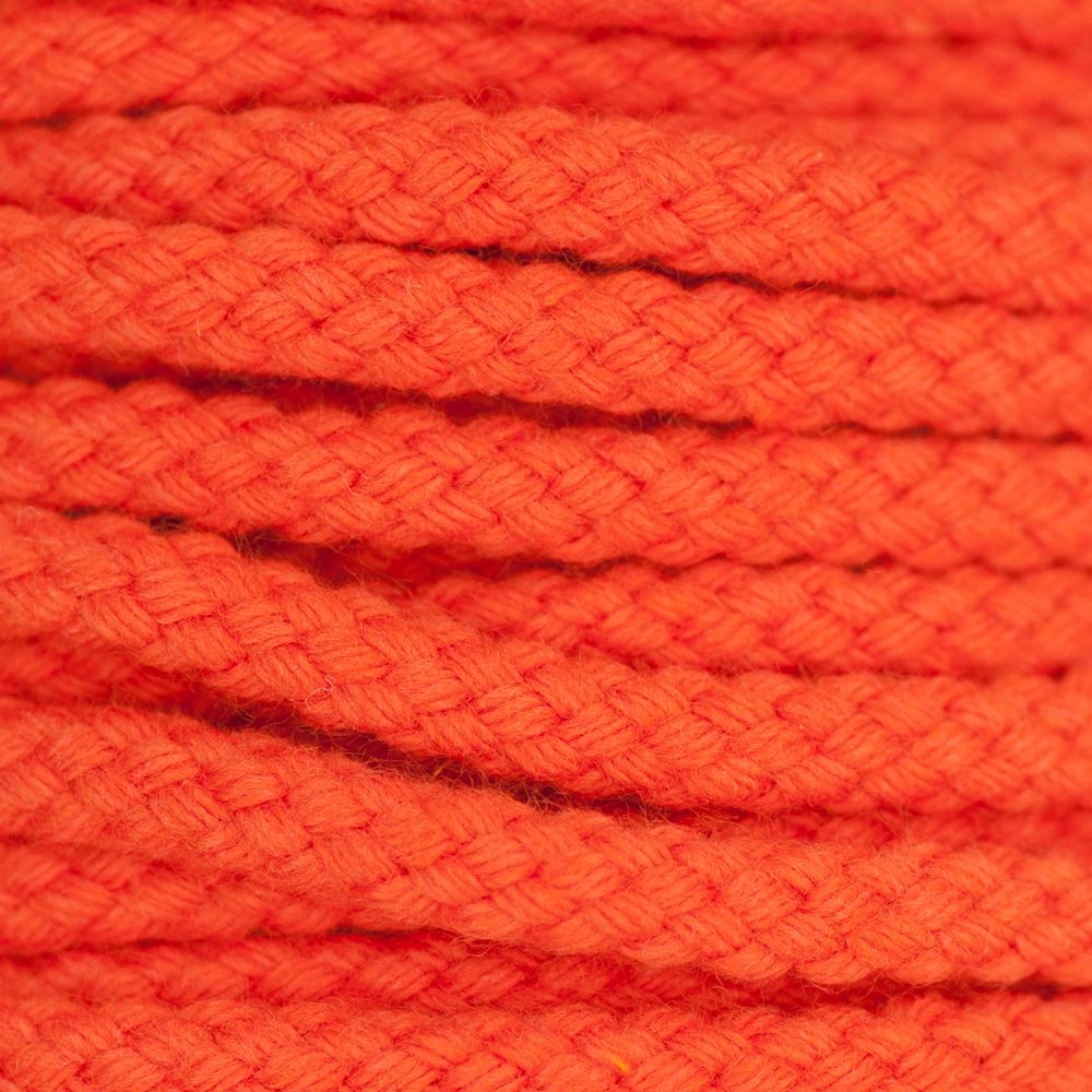 Drawstring Cord Orange 5mm