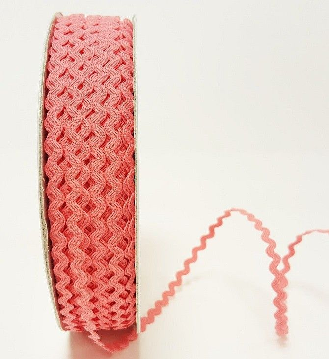 Bertie's Bows Candy Pink 7mm Mini Ric Rac