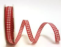 Red 9mm Gingham Ribbon